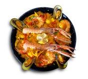 Paella z owoce morza Zdjęcia Stock