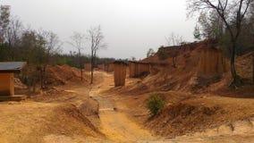 Paemungpee Forest Park da garganta de Brown Fotos de Stock Royalty Free