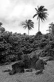Paengariki marae in Aitutaki Lagoon Cook Islands Stock Images
