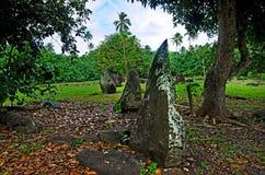 Paengarikimarae in Aitutaki-Lagune Cook Islands Royalty-vrije Stock Afbeeldingen