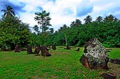 Paengarikimarae in Aitutaki-Lagune Cook Islands Stock Afbeelding