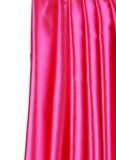 Pañería de seda rosada brillante Imagenes de archivo