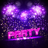 Paerty celebration background with fireworks. Easy all editable Stock Photography