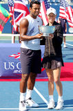 Paes & Black mixed champions US Open 2008 (22) Stock Image