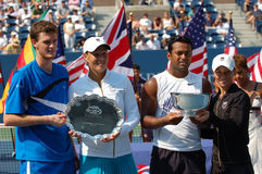 Paes & Black Murray J & Huber US Open 2008 (3). Paes & Black Murray J & Huber mixed doubles winners US Open 2008 Stock Photos