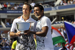 Paes-Stepanek champions Doubles US 2013 Stock Photo