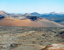 Parco nazionale Timanfaya, Lanzarote Immagini Stock
