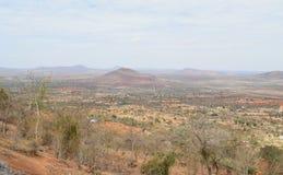 Paesaggi aridi delle pianure di Kilome Fotografia Stock
