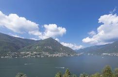 Paesaggi del lago Como Fotografia Stock Libera da Diritti