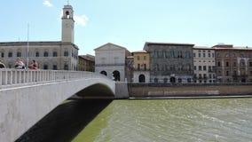 Paesaggi del ponte di Pisa immagini stock libere da diritti