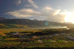 Paesaggi del Tibet Immagine Stock