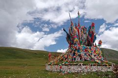 Paesaggi del Tibet Fotografia Stock