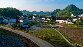 Paesaggi del villaggio della Cina Wuyuan fotografia stock
