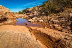 Paesaggi dell'arenaria dell'Arizona Fotografia Stock