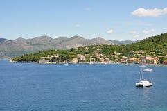 Paesaggi dell'isola di Lopud, Croatia Fotografia Stock