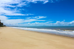 Paesaggi della città della spiaggia di Prado, Bahia, Brasile Fotografia Stock Libera da Diritti
