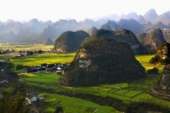 Paesaggi della montagna Fotografia Stock