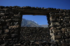Paesaggi della montagna di Asia centrale di Federazione Russa di regione di Pamir Immagine Stock Libera da Diritti