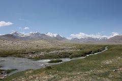 Paesaggi della montagna di Asia centrale di Federazione Russa di regione di Pamir Fotografie Stock Libere da Diritti