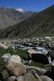 Paesaggi della montagna di Asia centrale di Federazione Russa di regione di Pamir Fotografia Stock