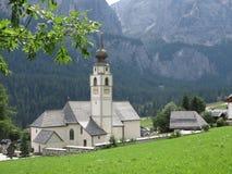 Paesaggi delle montagne delle dolomia, Colfosco, Alta Badia, Italia Fotografia Stock