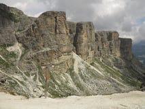Paesaggi delle montagne delle dolomia, Corvara in Badia Alta Badia, Italia Immagine Stock