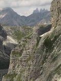 Paesaggi delle montagne delle dolomia, Corvara in Badia Alta Badia, Italia Fotografie Stock