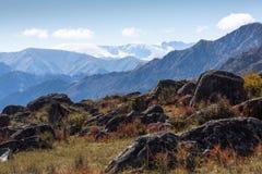 Paesaggi delle montagne di Altai, Repubblica di Altai Fotografia Stock Libera da Diritti