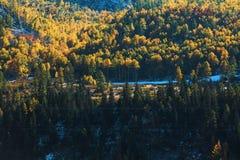 Paesaggi di Altay Mountains in autunno, Repubblica di Altai Fotografie Stock