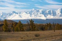 Paesaggi di autunno delle montagne, Repubblica di Altai Fotografia Stock Libera da Diritti