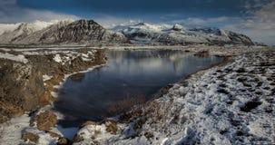 Paesaggi di giorno dell'Islanda Fotografie Stock