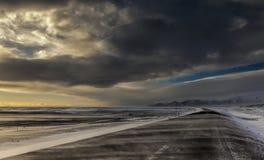 Paesaggi di giorno dell'Islanda Immagini Stock Libere da Diritti