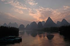 Paesaggi di Guilin Fotografie Stock Libere da Diritti