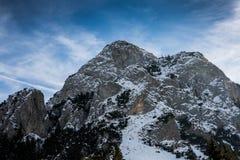 Paesaggi di inverno sopra le montagne carpatiche Immagini Stock Libere da Diritti
