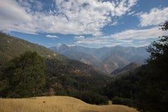 Paesaggi di parco nazionale di Yosemite fotografia stock