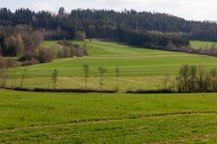 paesaggi di tempo orientale alla campagna rurale in Germania del sud Fotografia Stock Libera da Diritti