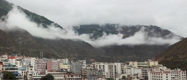 Paesaggi di Xiaojin della provincia del Sichuan Fotografie Stock Libere da Diritti