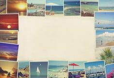 Paesaggi Mediterranei di vacanza della spiaggia Immagini Stock Libere da Diritti