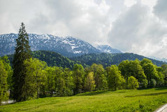 Paesaggi nel parco Linderhoff, Baviera, Germania Immagine Stock Libera da Diritti