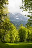 Paesaggi nel parco Linderhoff, Baviera, Germania Fotografie Stock