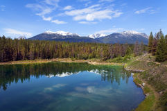 Paesaggi nella sosta nazionale del Banff, Canada Fotografia Stock