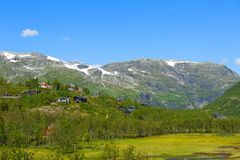 Paesaggi norvegesi strabilianti della montagna e del fiordo Immagine Stock Libera da Diritti