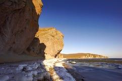 Paesaggi rocciosi del mare di Japan-4 Fotografie Stock Libere da Diritti