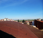Paesaggi rustici, città immagine stock