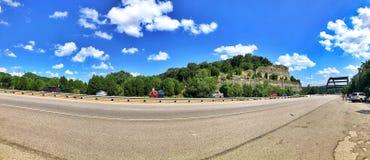 Paesaggi urbani del ponte di Pennybacker in Austin fotografia stock libera da diritti
