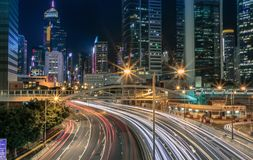 Paesaggi urbani di Hong Kong Fotografia Stock Libera da Diritti
