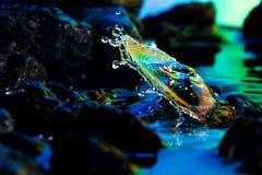 Paesaggi variopinti e creativi di goccia dell'acqua Immagine Stock Libera da Diritti