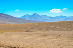 Paesaggi vicino a Paso de Jama, Cile del nord Fotografia Stock Libera da Diritti