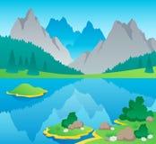 Paesaggio 6 di tema della montagna Immagine Stock