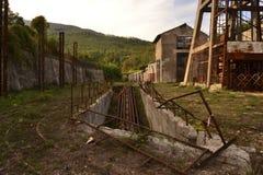 Paesaggio abbandonato della miniera Fotografia Stock